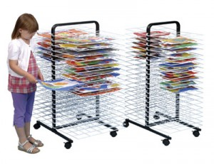 C1168 - 40 small shelf mobile drying rack C1169 - 40 large shelf mobile drying rack
