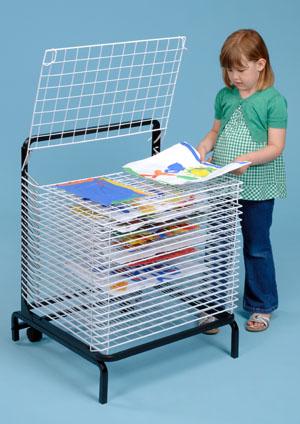 C1167 - 20 Shelf Spring Loaded Floor Dryer Dimensions: 61x51x99 cm