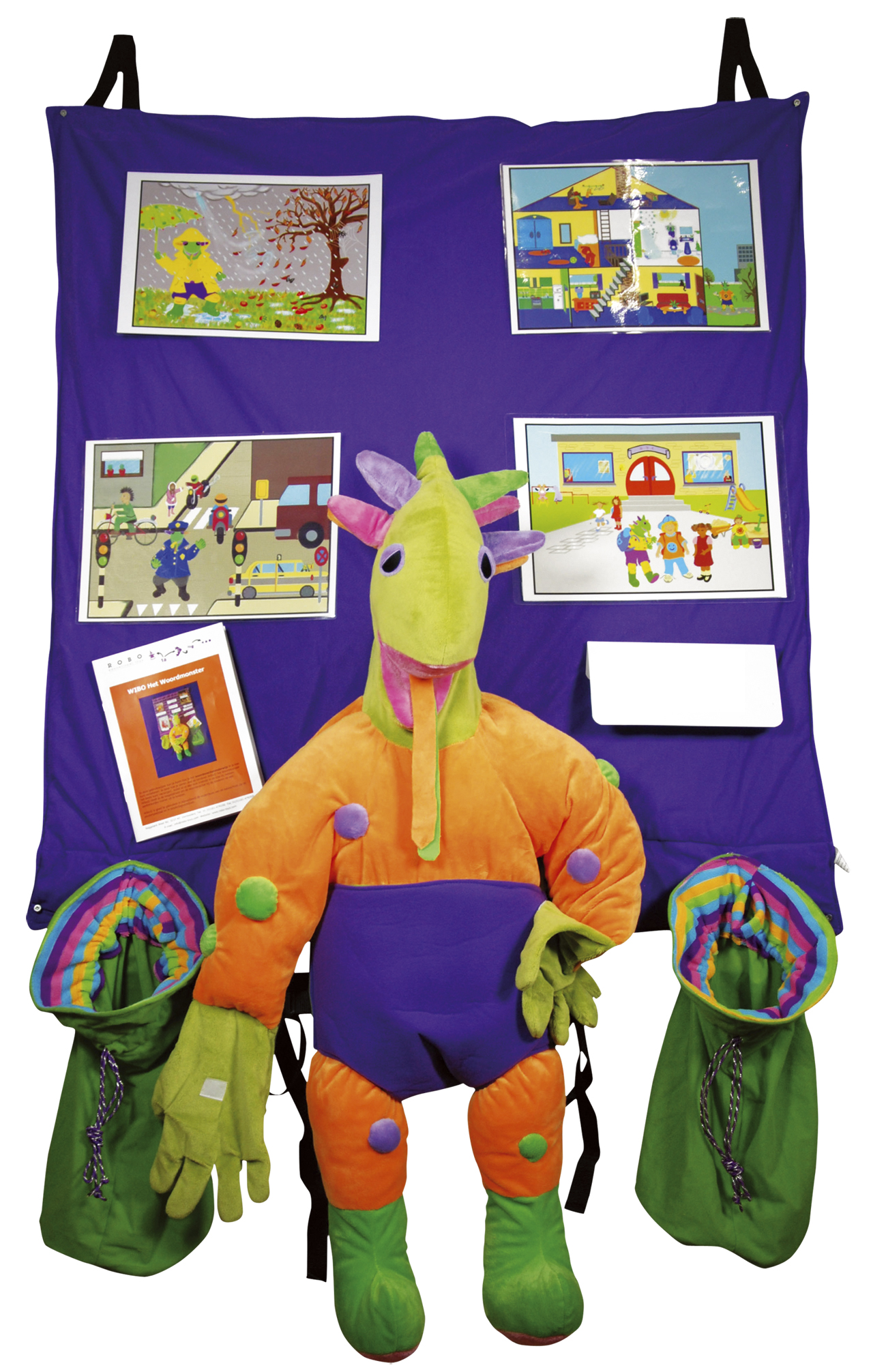 Handpuppet Wibo the Wordmonster Garment for words