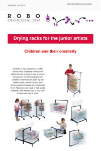 Newsletter June Drying racks
